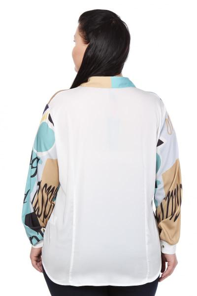 Артикул 103402 - блузка большого размера - вид сзади