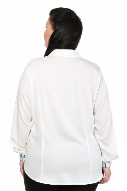 Артикул 103408 - блузка  большого размера - вид сзади