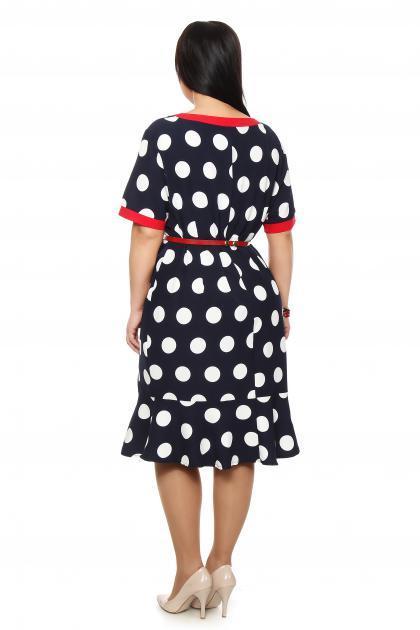 Артикул 202251 - платье большого размера - вид сзади