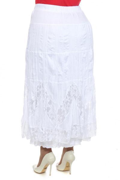 Артикул 102668 - юбка большого размера - вид сзади