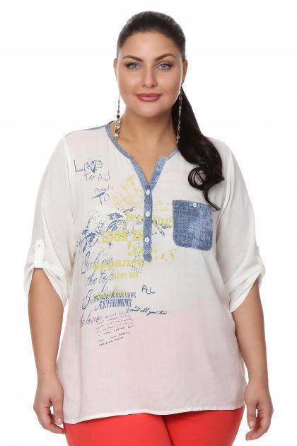 Артикул 107314 - блузка большого размера