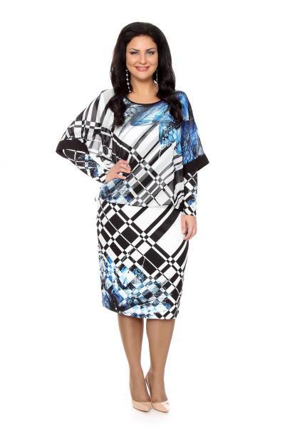 Артикул 216634 - платье  большого размера