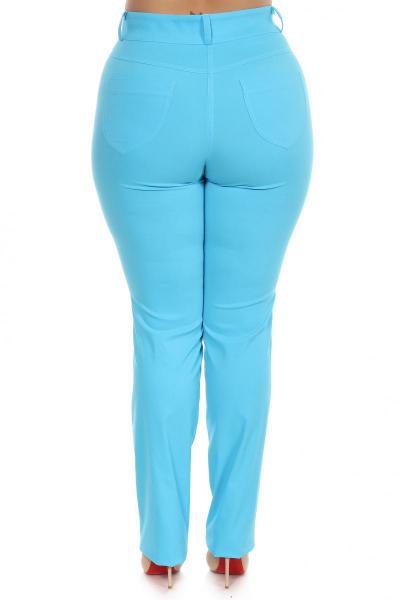 Артикул 16531 - брюки большого размера - вид сзади
