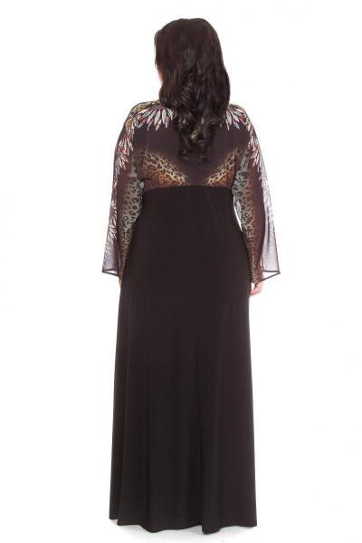 Артикул 109251 - платье  большого размера - вид сзади