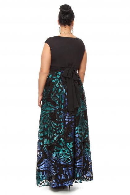 Артикул 15342 - платье  большого размера - вид сзади