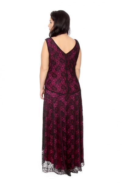 Артикул 16385 - платье  большого размера - вид сзади