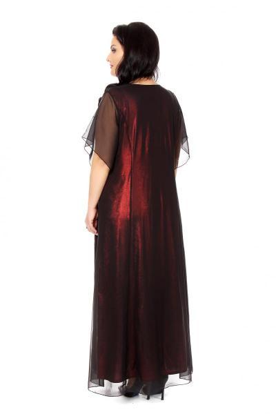 Артикул 16386 - платье большого размера - вид сзади