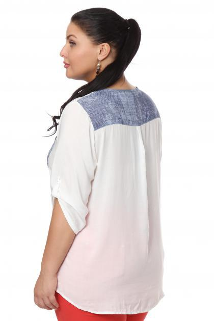 Артикул 107314 - блузка большого размера - вид сзади
