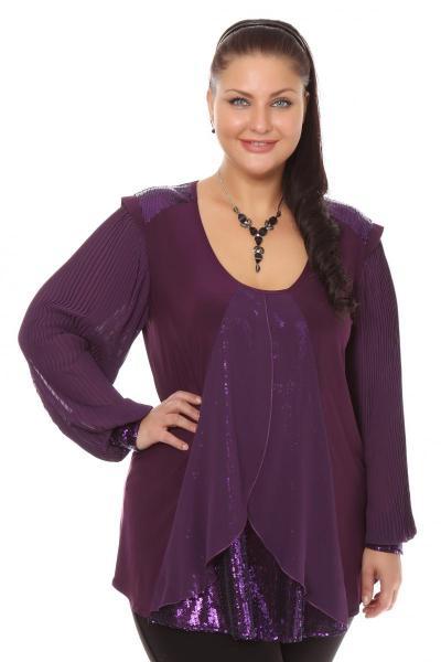 Артикул 101131-1 - блузка большого размера