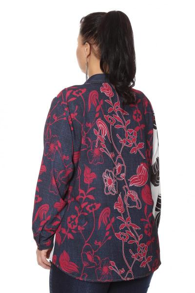 Артикул 204324 - блузка большого размера - вид сзади