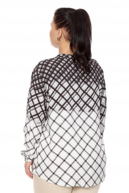 Артикул 204460 - блузка  большого размера - вид сзади