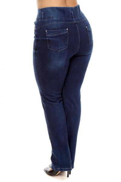 Артикул 209920 - джинсы большого размера - вид сзади