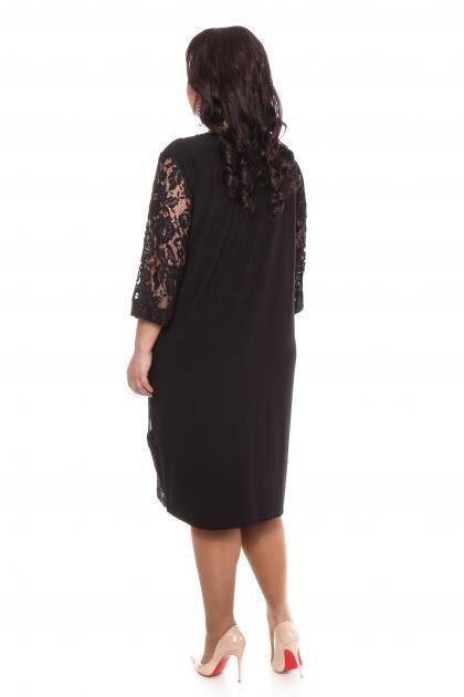 Артикул 109281 - платье большого размера - вид сзади
