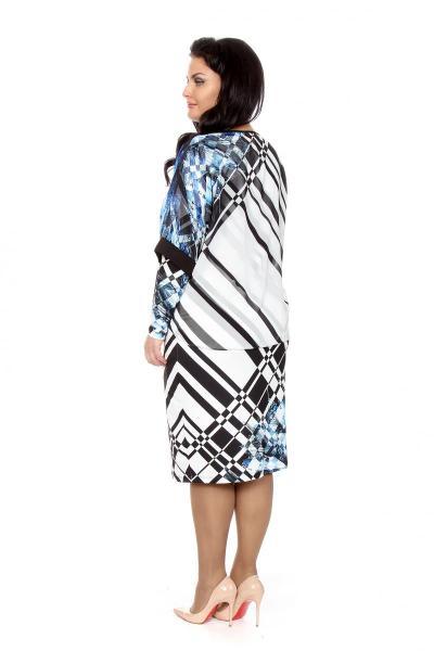 Артикул 216634 - платье  большого размера - вид сзади