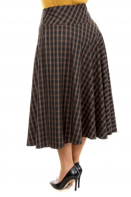 Артикул 201719-1 - юбка большого размера - вид сзади