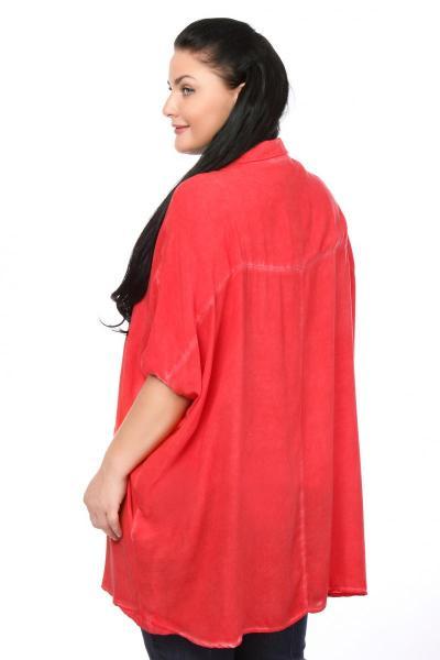 Артикул 102014 - блузка  большого размера - вид сзади