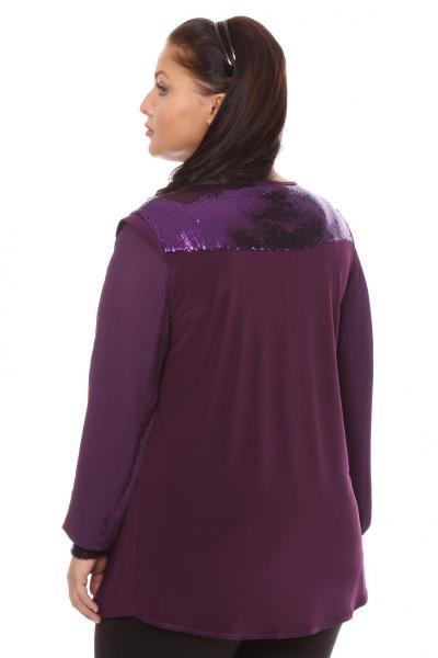 Артикул 101131-1 - блузка большого размера - вид сзади