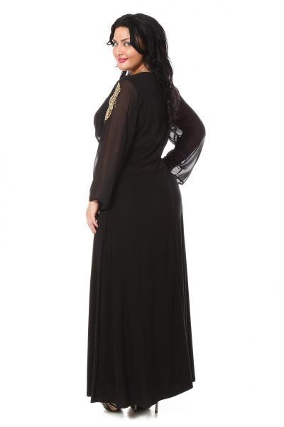 Артикул 007878 (009257) - платье большого размера - вид сзади