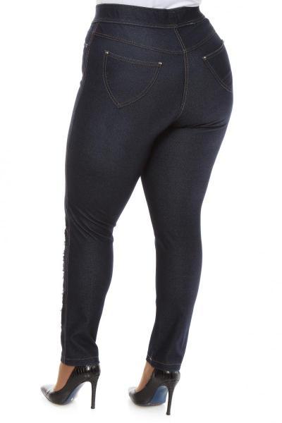 Артикул 100612 - джинсы большого размера - вид сзади