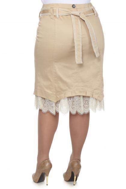 Артикул 12341 - юбка большого размера - вид сзади