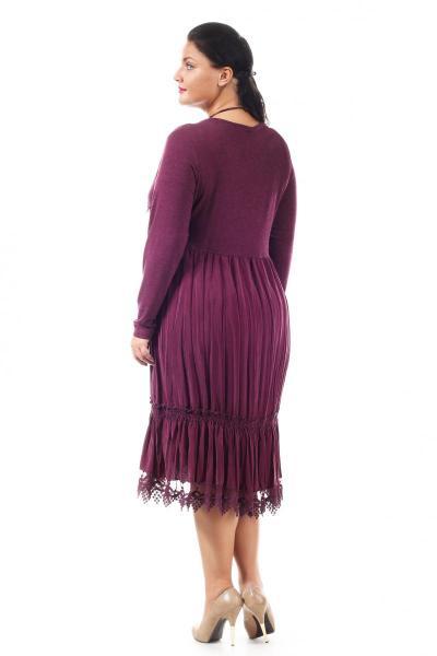 Артикул 005206 - платье большого размера - вид сзади