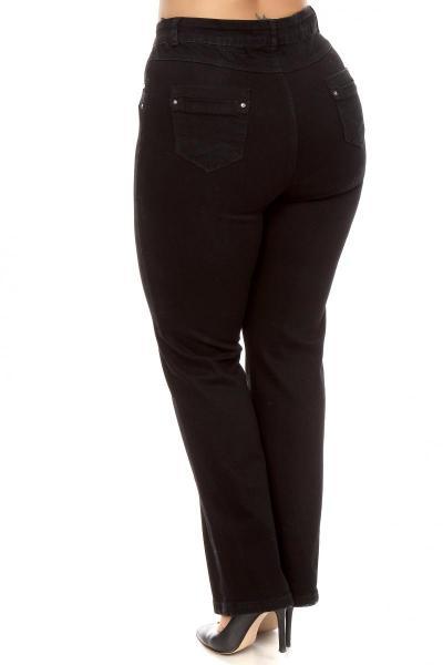 Артикул 200603 - джинсы большого размера - вид сзади