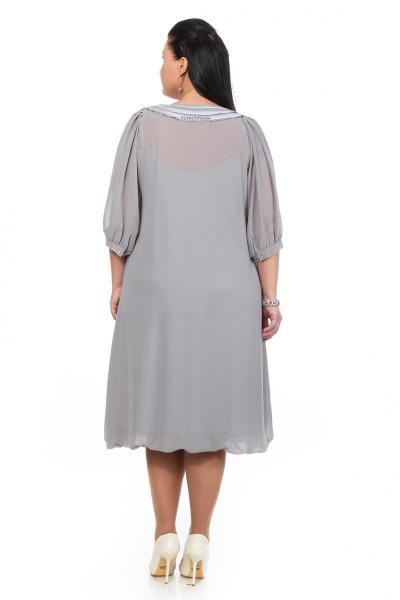 Артикул 12334 - платье большого размера - вид сзади