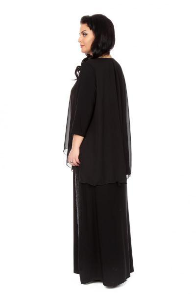 Артикул 16382 - платье большого размера - вид сзади