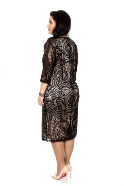 Артикул 202357 - платье  большого размера - вид сзади