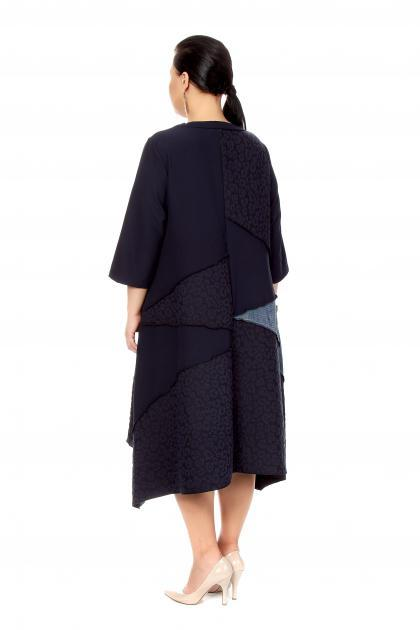 Артикул 200552 - платье  большого размера - вид сзади