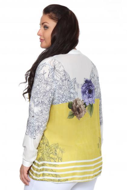 Артикул 107559 - блузка большого размера - вид сзади