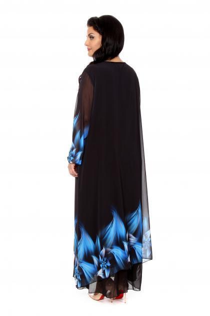 Артикул 266021 - платье  большого размера - вид сзади