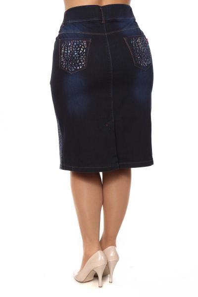 Артикул 205139 - юбка большого размера - вид сзади
