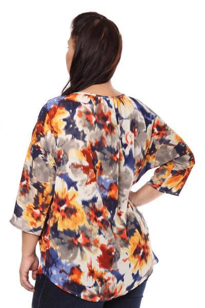 Артикул 105334 - блузка большого размера - вид сзади