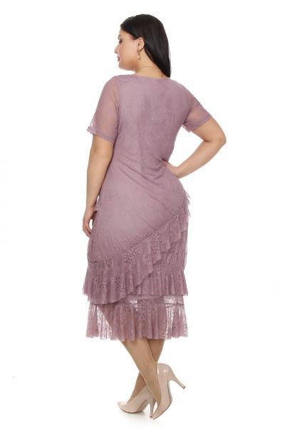 Артикул 12333 - платье большого размера - вид сзади