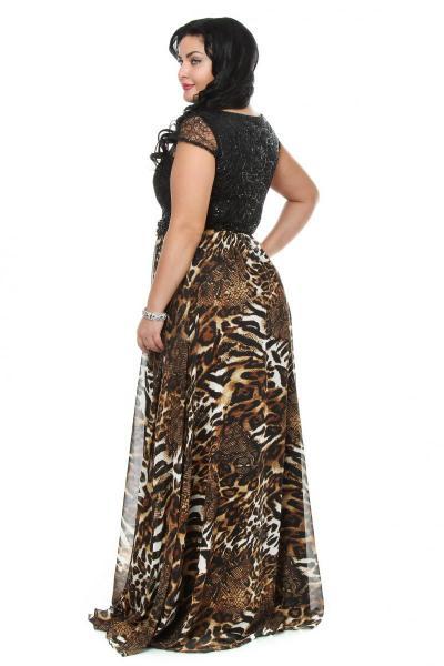 Артикул 111000 - платье  большого размера - вид сзади
