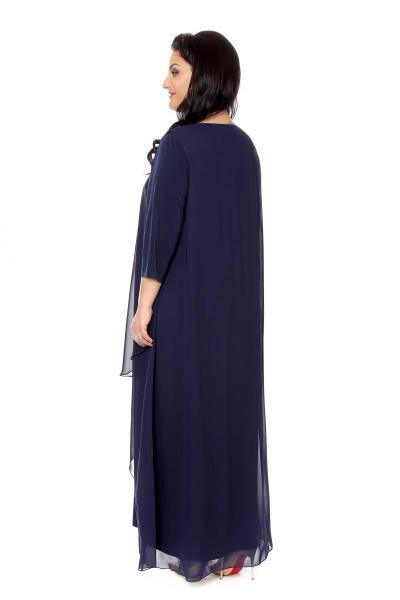 Артикул 16381 - платье  большого размера - вид сзади