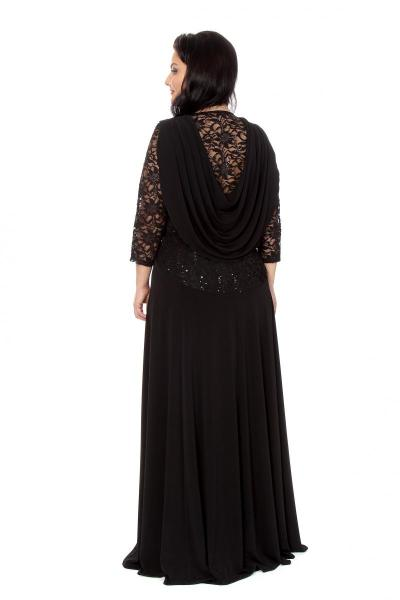 Артикул 16389 - платье большого размера - вид сзади