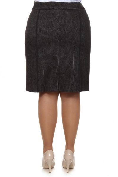 Артикул 10461 - юбка большого размера - вид сзади