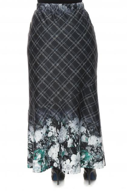 Артикул 16411 - юбка большого размера - вид сзади