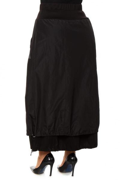 Артикул 202694 - юбка большого размера - вид сзади