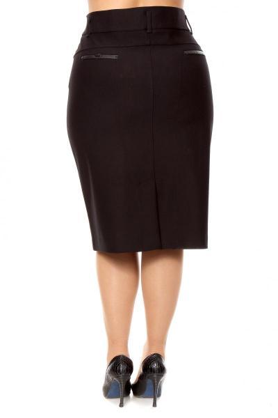 Артикул 2018010 - юбка большого размера - вид сзади