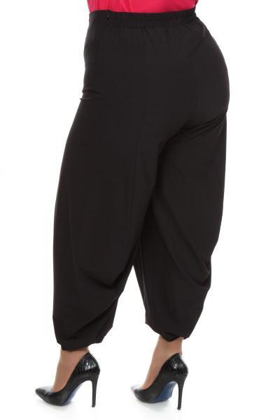 Артикул 101505 - брюки - шаровары большого размера - вид сзади