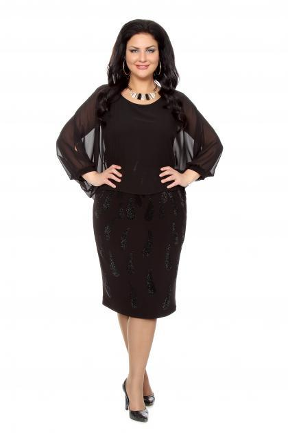 Артикул 216609 - платье  большого размера