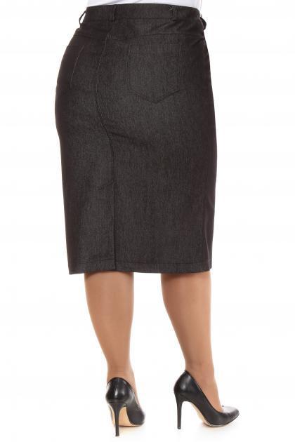 Артикул 16412 - юбка большого размера - вид сзади