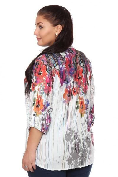 Артикул 108463 - блузка  большого размера - вид сзади