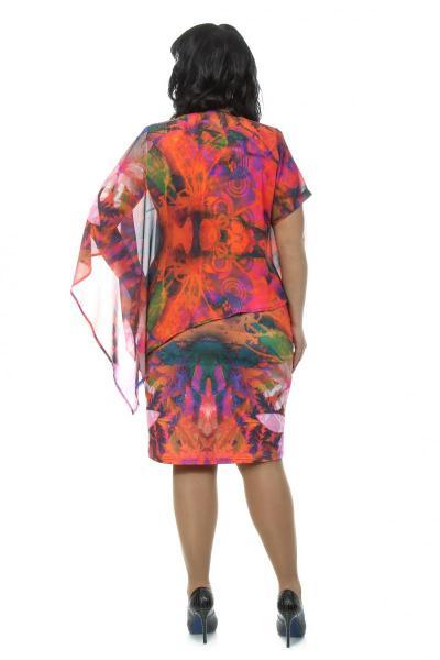 Артикул 108035 - платье большого размера - вид сзади