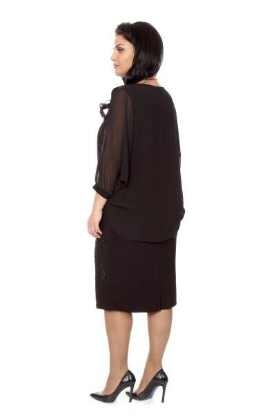 Артикул 216609 - платье большого размера - вид сзади