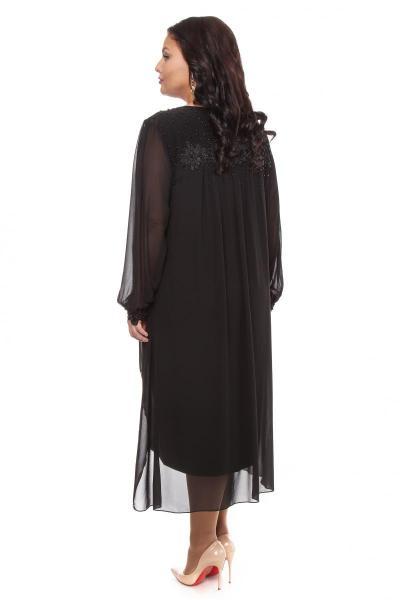 Артикул 109260 - платье  большого размера - вид сзади