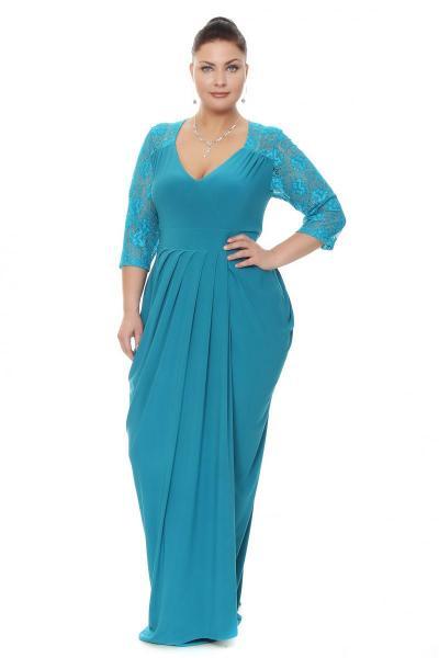 Артикул 16349 - платье большого размера - вид сзади